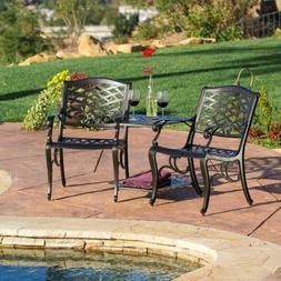 Outdoor Patio Furniture Cast Aluminum 2-seater Set / Bench /