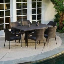 Outdoor Patio Furniture Elegant Brown All-weather Wicker Di