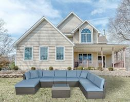 Patio Furniture Sectional Sofa Set Outdoor Rattan Wicker Cus