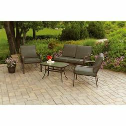 Patio Furniture Set , 4-Piece, Table, Chairs, Sofa Outdoor S