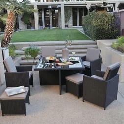 Patio Furniture Set 9pcs Patio Outdoor Dining Sets PE Rattan