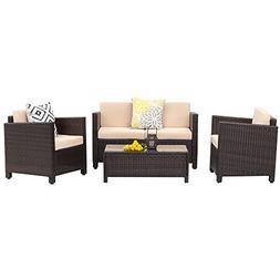 Wisteria Lane Outdoor Patio Furniture Set,4 Piece Conversati