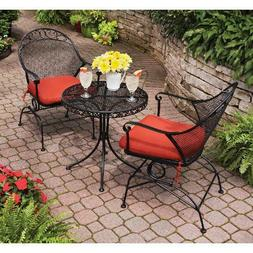Patio Furniture Set Wrought Iron Table & Chairs Outdoor Seat