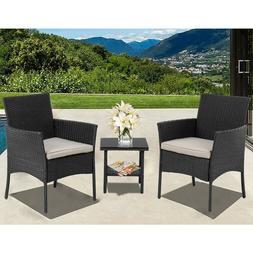 Patio Furniture Sets 3 Pieces Outdoor Bistro Set Rattan Chai