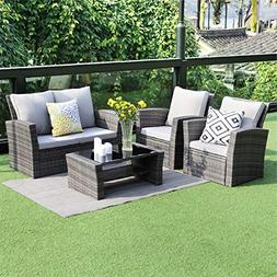Wisteria Lane 5 Piece Outdoor Patio Furniture Sets, Wicker R