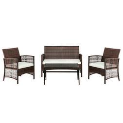 Patio Furniture Sofa Set Wicker Rattan Indoor Outdoor Porch