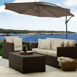 Patio Furniture Umbrella 10' Hanging Sun Shade Offset Outdoo