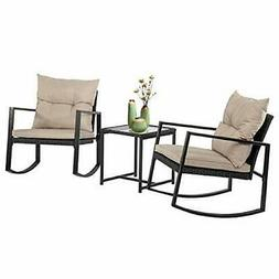 Patio Outdoor Furniture Sets Front Porch Rocking Chair 3 Pie