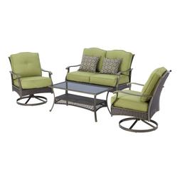 Patio Seating Set 4 Piece Outdoor Loveseat Table Chair Garde