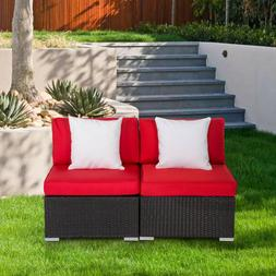 Patio Sofa Set Garden Rattan Wicker Sectional Outdoor Furnit