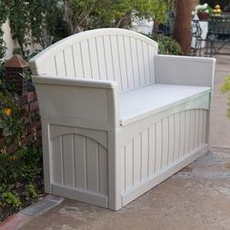 Patio Storage Bench Outdoor Seat Furniture Plastic Deck Box