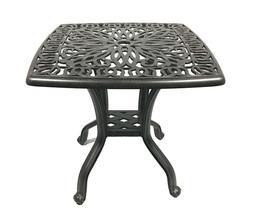 Patio end table Cast Aluminum furniture Elisabeth Accent Law