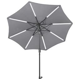 Tangkula 9ft Patio Umbrella Outdoor Tilt Umbrella Lawn Garde