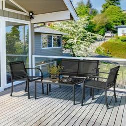 Patio Wicker Furniture Set Outdoor Rattan Sofa Garden Conver