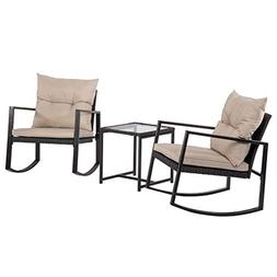 Patio Sofa Set 4 Pcs Outdoor Furniture Set PE Rattan Wicker