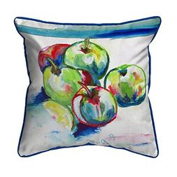 Betsy Drake Polyester Patio Furniture Pillows Green Apples L