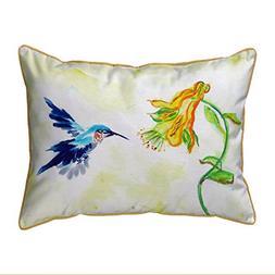 Betsy Drake Polyester Patio Furniture Pillows Hummingbird &