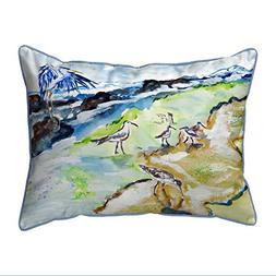 Betsy Drake Polyester Patio Furniture Pillows Sandpipers & H