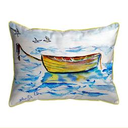 Betsy Drake Polyester Patio Furniture Pillows Yellow Row Boa