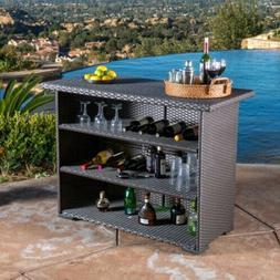 Poolside Outdoor Living Bar Rattan Wicker Home Patio Enterta