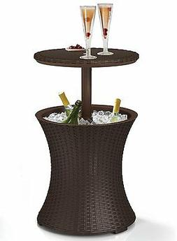 Keter Rattan Outdoor Patio Deck Pool Cool Bar Ice Cooler Tab