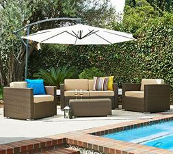 Tangkula 6 Piece Patio Furniture Set Outdoor Lawn Garden Wic