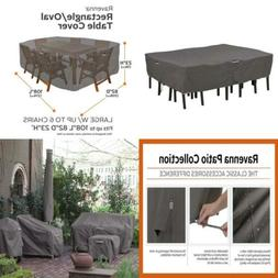 Classic Accessories Ravenna Large Oval/Rectangle Patio Table