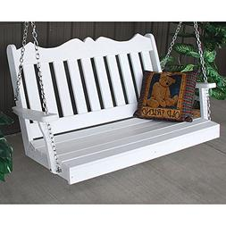 A&L Furniture Co. Royal English Recycled Plastic Porch Swing