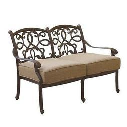 Darlee Santa Monica Patio Loveseat with Cushion in Antique B