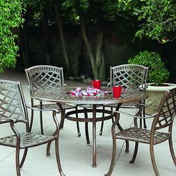 Darlee Sedona 5 Pc Patio Dining Set - Dining Table With Ice