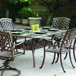 Darlee Sedona 7 Piece Patio Dining Set With Scrollwork Table