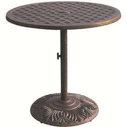 "Darlee Series 30 Patio 30"" Round Dining Table in Antique Bro"