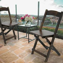 Set of 2 Outdoor Patio Folding Bamboo Patio Recliner Chair S