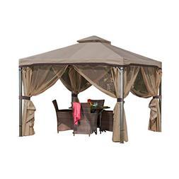 Sonoma Outdoor Gazebo Canopy w/ Net Drapery
