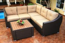 South Beach 4 Piece Sectional Set Outdoor Patio Furniture Wi