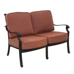 Darlee St. Cruz Patio Loveseat with Cushion in Antique Bronz