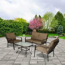 Mainstays Stanton 4-Piece Patio Furniture Conversation Set,
