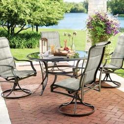 Statesville 5-Piece Padded Sling Patio Dining Set with 53 in