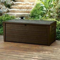 Storage Deck Box Outdoor Container Bin Chest Patio Keter 120