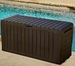 Storage Deck Box Outdoor Container Bin Chest Patio Keter 71