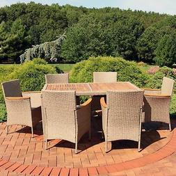 Sunnydaze Foxford 7-Piece Outdoor Dining Patio Furniture Set