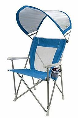GCI Outdoor Waterside SunShade Folding Captain's Beach Chair
