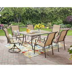 7 Piece Patio Dining Set Table Chairs Outdoor Garden Furnitu
