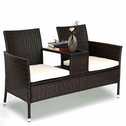 Tangkula Outdoor Furniture Set Patio Conversation Set with R