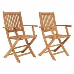 Amazonia Teak London Folding Patio Armchair - Set of 2