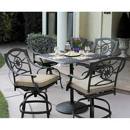 Darlee Ten Star 5 Piece Patio Counter Height Pub Set in Anti