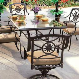 Darlee Ten Star 7 Piece Cast Aluminum Patio Dining Set With