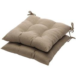 Pillow Perfect Outdoor Textured Solid Tufted Seat Cushion -