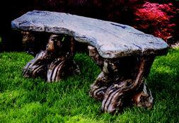 Timber Bench - Outdoor Concrete Garden Furniture Seat Patio