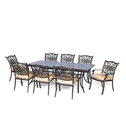 Hanover TRADDN9PC Traditions 9-Piece Aluminum Rust-Free Pati